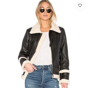 Nwt Eaves revolve Piper Moto shearling jacket xs